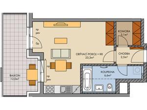 plánek prodej byt Medunova